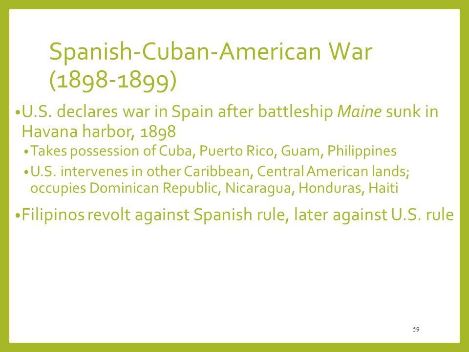Spanish-Cuban-American War (1898-1899)