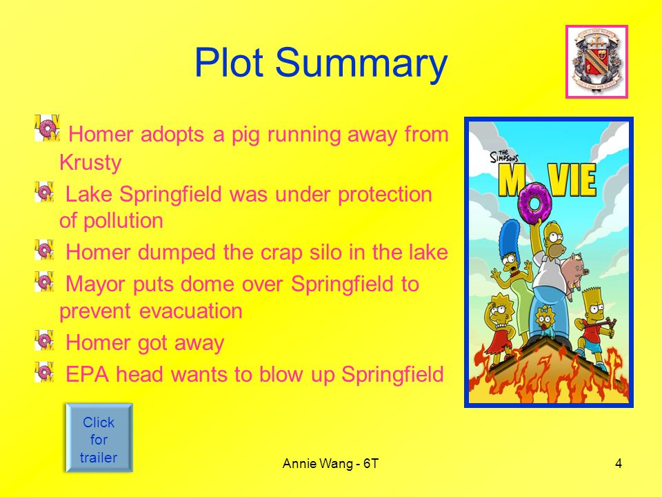 the simpsons movie annie wang 6t ppt video online