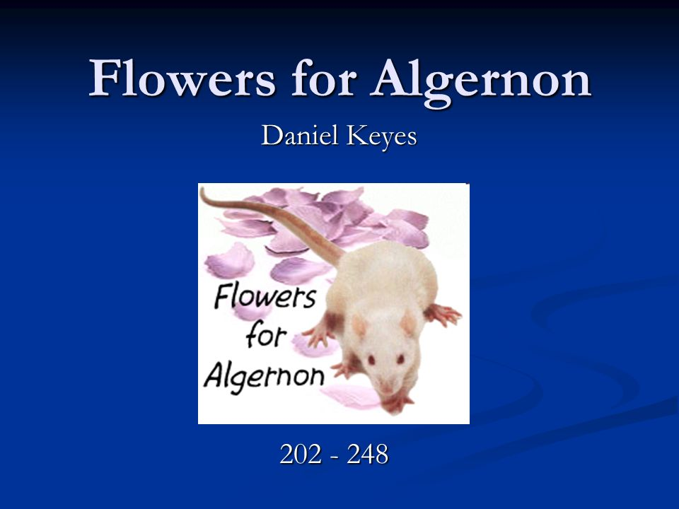 flowers for algernon daniel keyes ppt video online  1 flowers