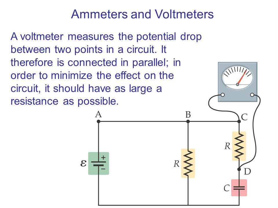 Voltmeter In Parallel : Electric current and direct circuits ppt video