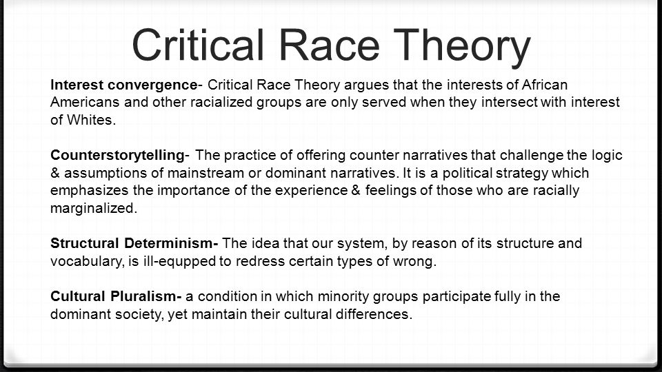 the critical race theory and the way to avoid criticism Critical race theory, disability microaggressions and latina/o student experiences in special education.