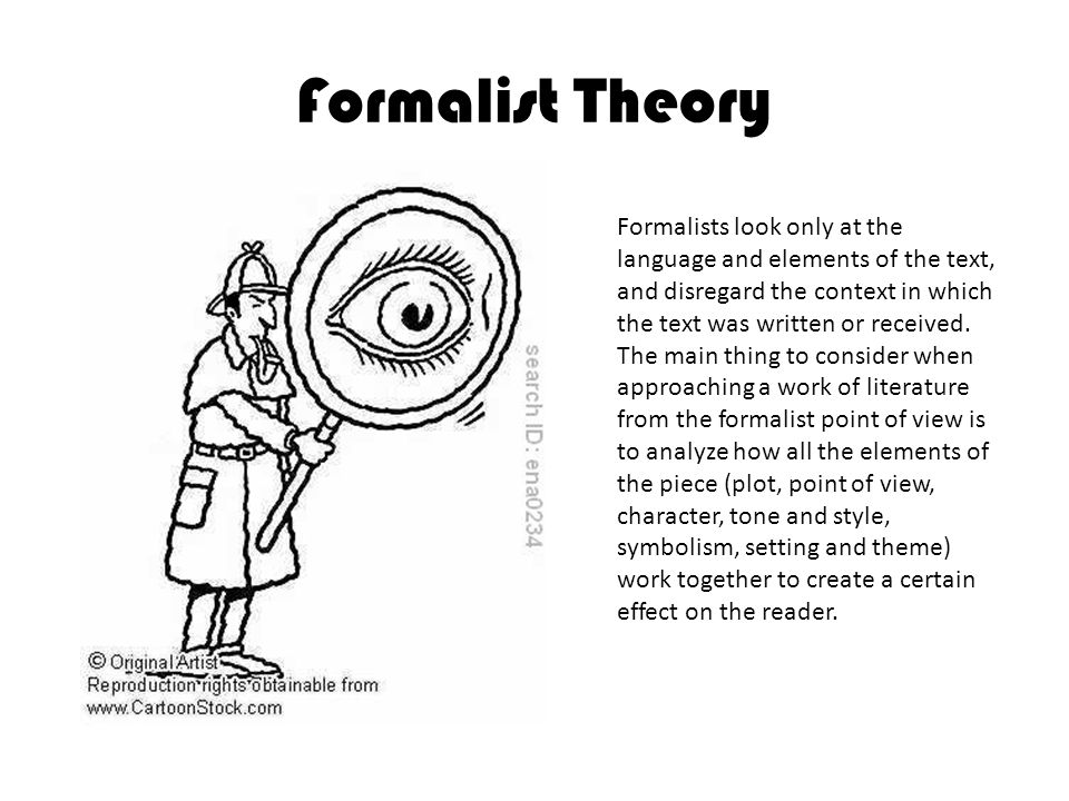 the formalist approach literary criticism Formalist definition, strict adherence to, or observance of, prescribed or traditional forms, as in music, poetry, and art see more.