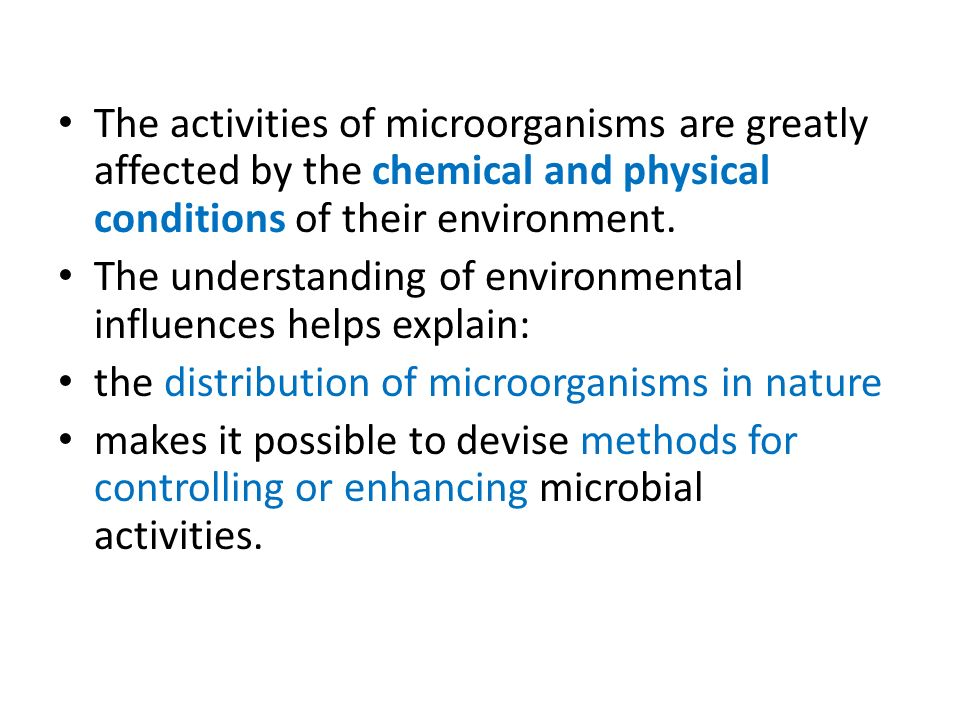 the environmental conditions on growth Bacterial growth is the spatially structured environments such as biofilms or agar surfaces present additional complex growth models environmental conditions.