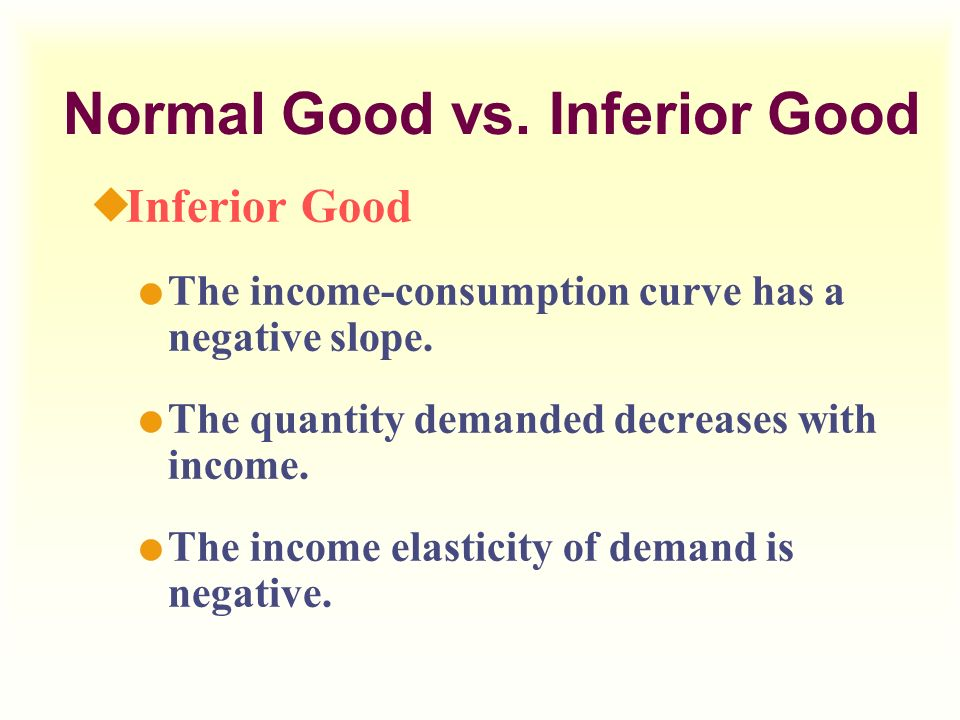 Is Food A Normal Or Inferior Good