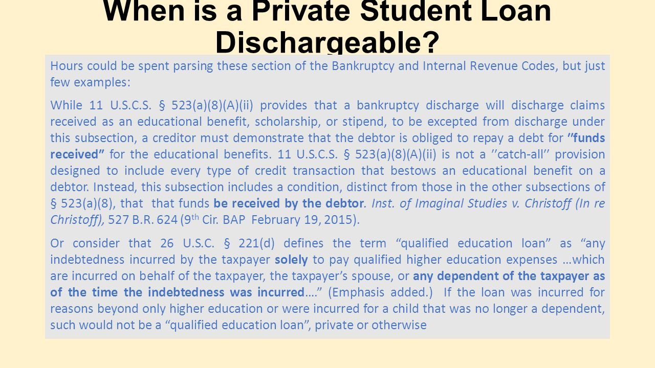 Student Loan Options And Chapter 13 Bankruptcy Ppt Download