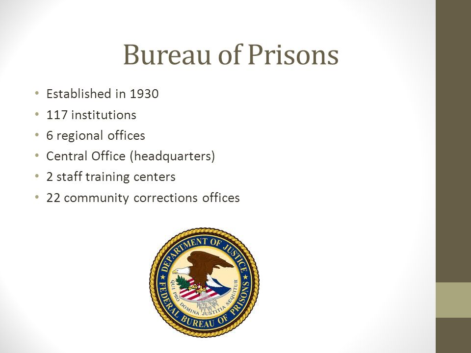 What the federal bureau of prisons has to offer a for Bureau of prisons