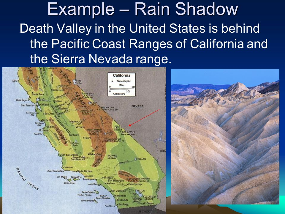SPI Explain How Mountains Affect Weather And Climate Ppt Video - Rain shadow map us