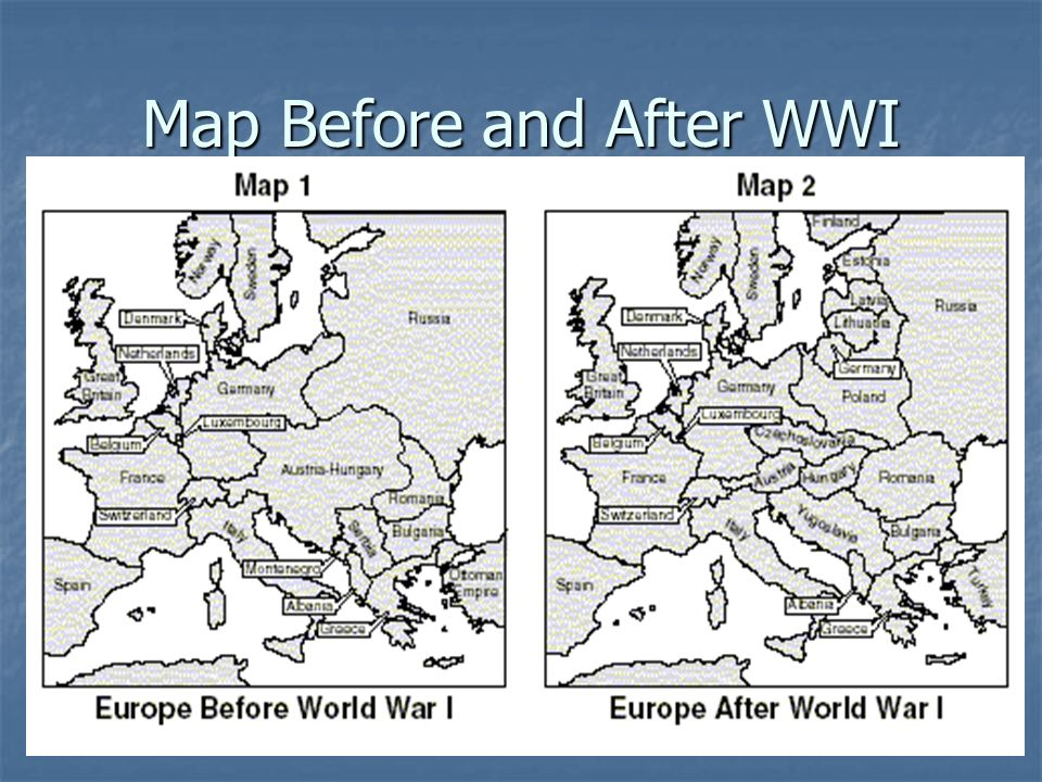 Goal 8 world war i ppt video online download 48 map before and after wwi gumiabroncs Images