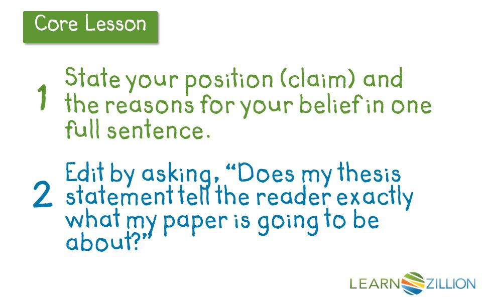 Thesis Statements- CRLS Research Guide