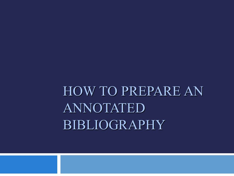 annotated bibliography what to write YouTube