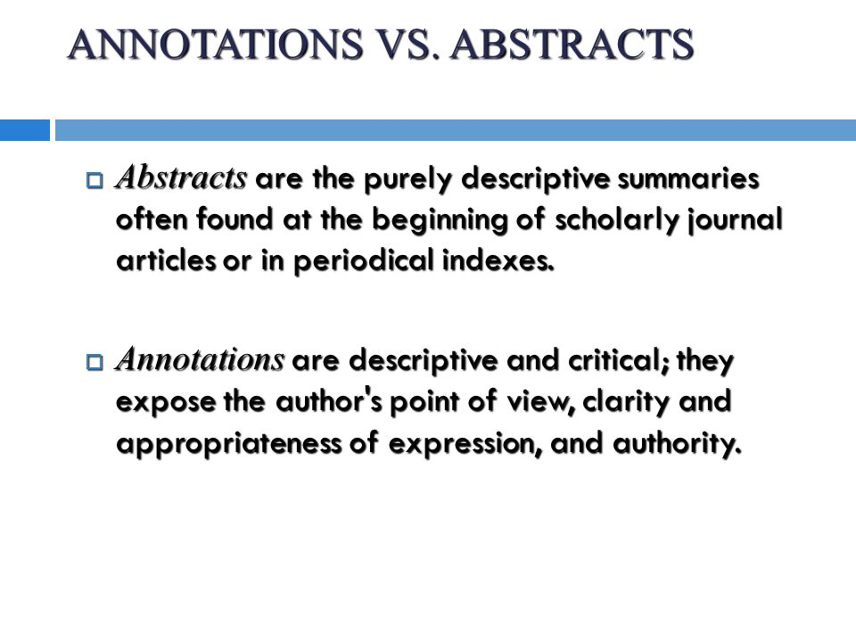 ANNOTATED BIBLIOGRAPHIES  WHAT IS AN ANNOTATED BIBLIOGRAPHY  An      th Editiotion MLA Annotated Bibliography Free Download