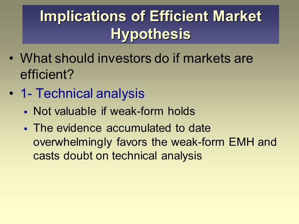 chapter 11 the efficient market hypothesis
