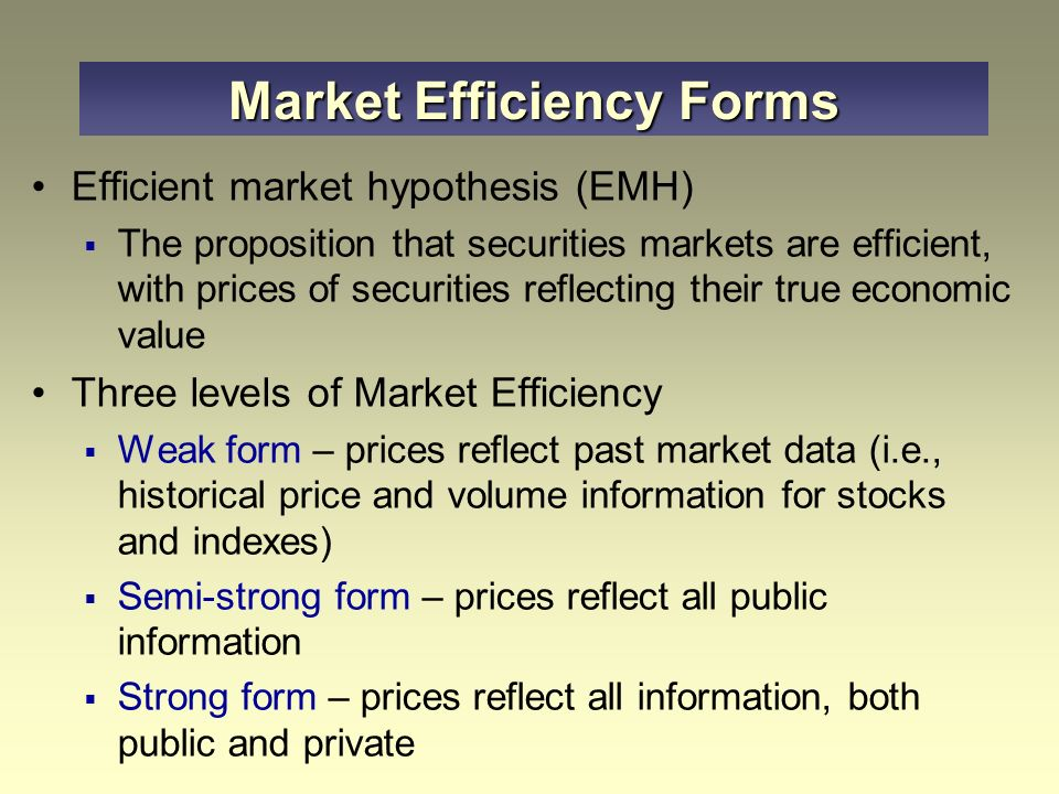 the semi strong form of the efficient market hypothesis essay