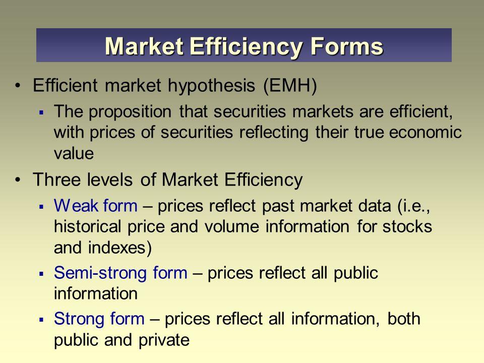 weak form efficient market hypothesis behavioural finance