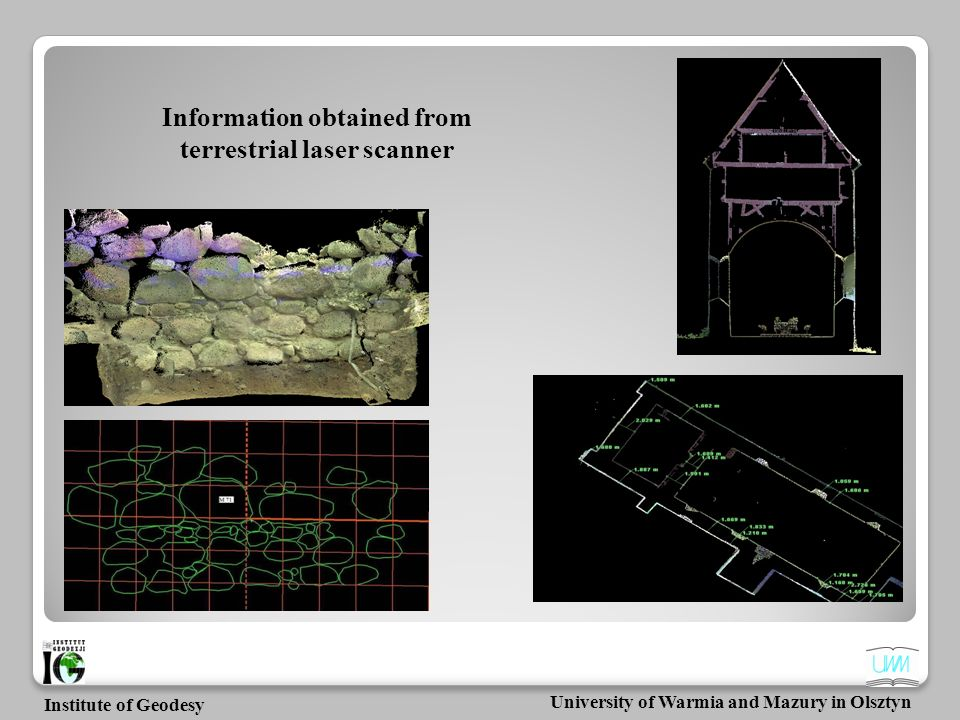 Information obtained from terrestrial laser scanner