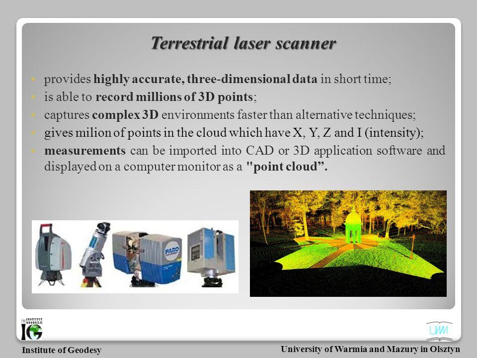 Terrestrial laser scanner