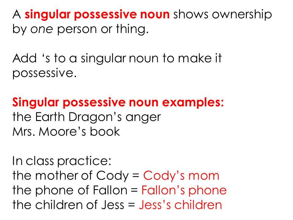 Possessive Nouns Ppt Video Online Download