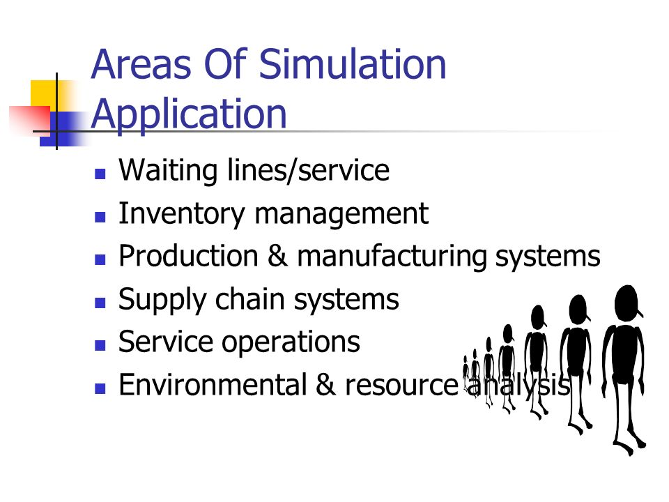 Areas Of Simulation Application