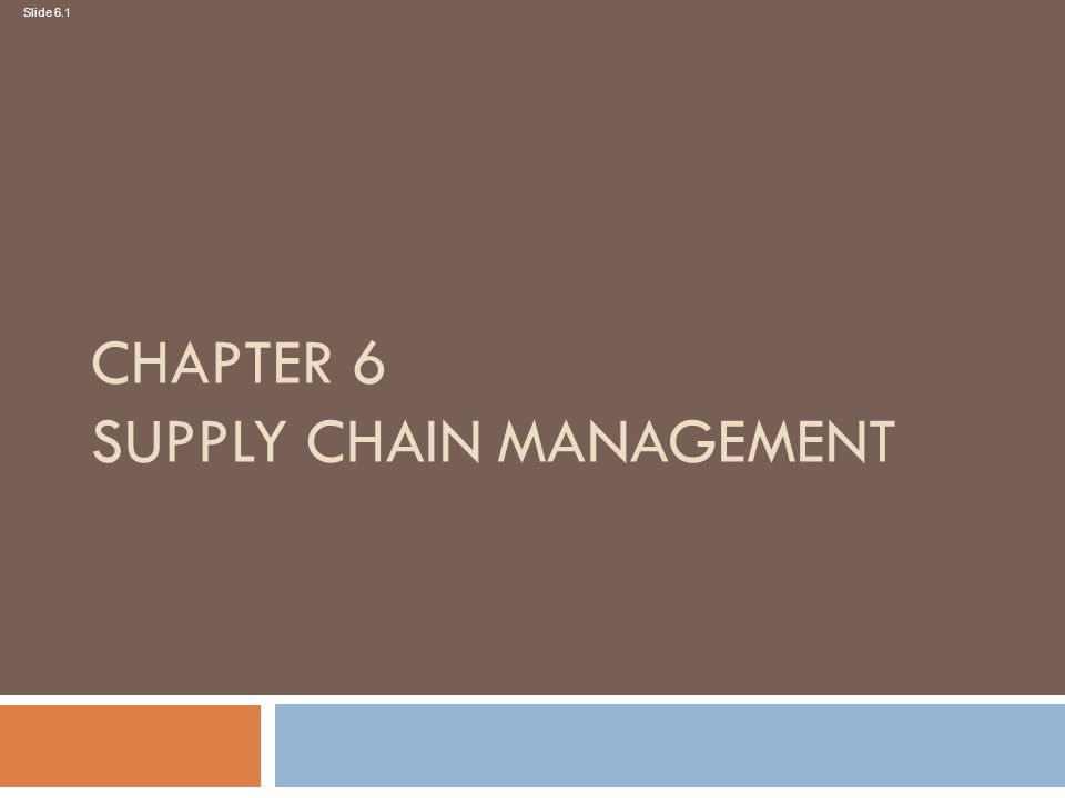 Mcqs for chapter 6 supply chain management