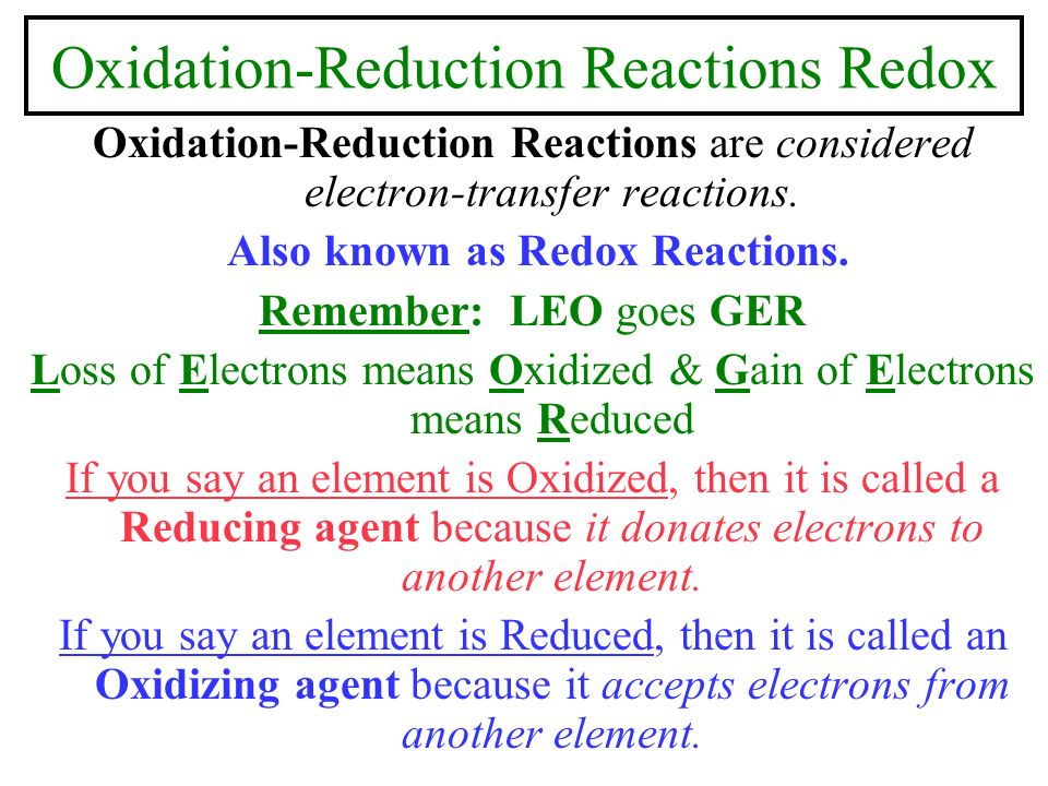 how to tell if element is oxidized or reduced