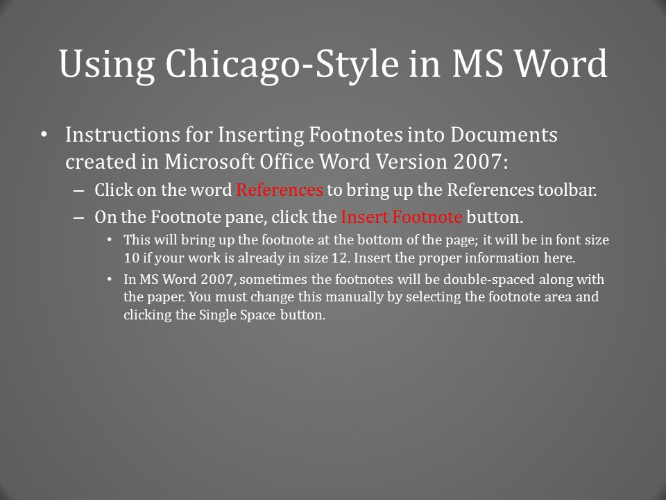 turabian style footnotes font size Font size in footnotes chicago manual of  theses, and dissertations chicago/turabian citation style uses footnotes at the bottom of.