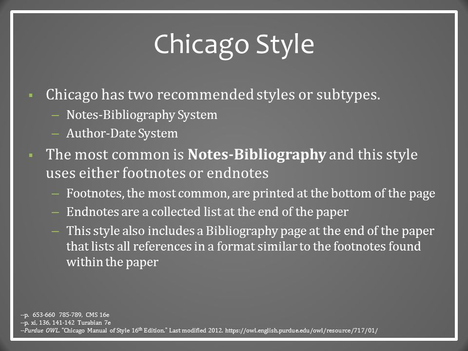 chicago manual of style paper format Kate turabian's a manual for writers of research papers, theses, and dissertations is a smaller version of the chicago manual of style written specifically for students now available in its new 9th edition.
