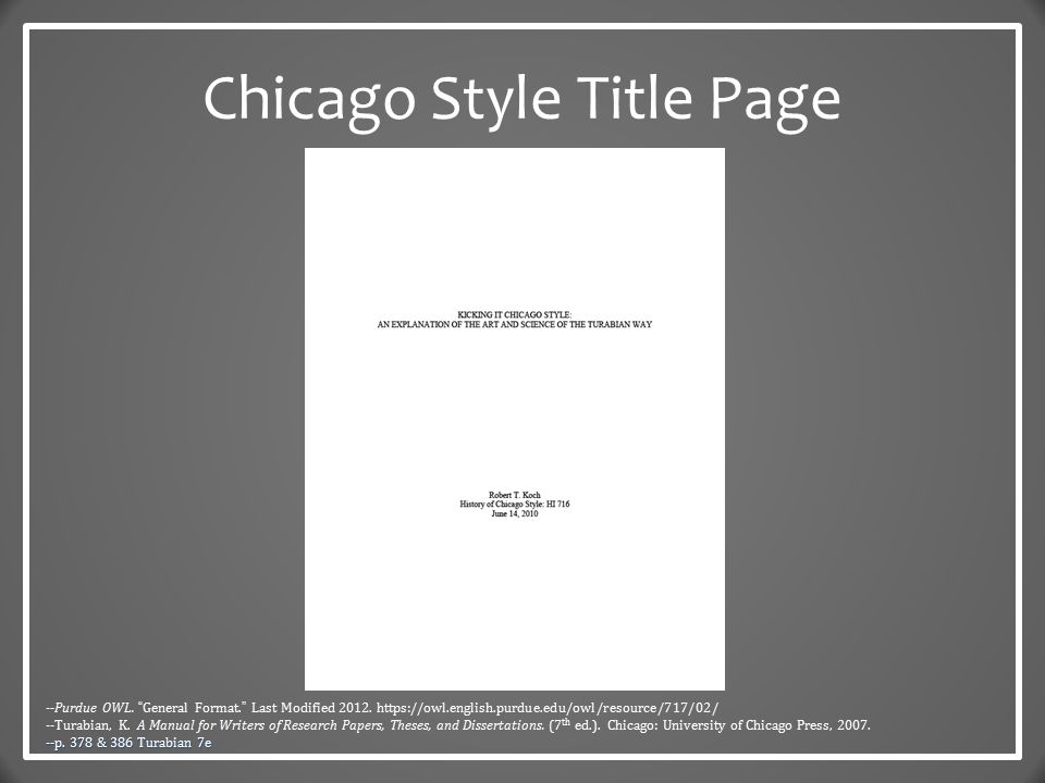 chicago style essay owl Owl provides writing resources and instructional materials for students and  educators  the chicago manual of style is found under research and citation .