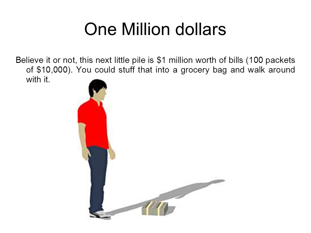 What does one million dollars in hundreds look like 11