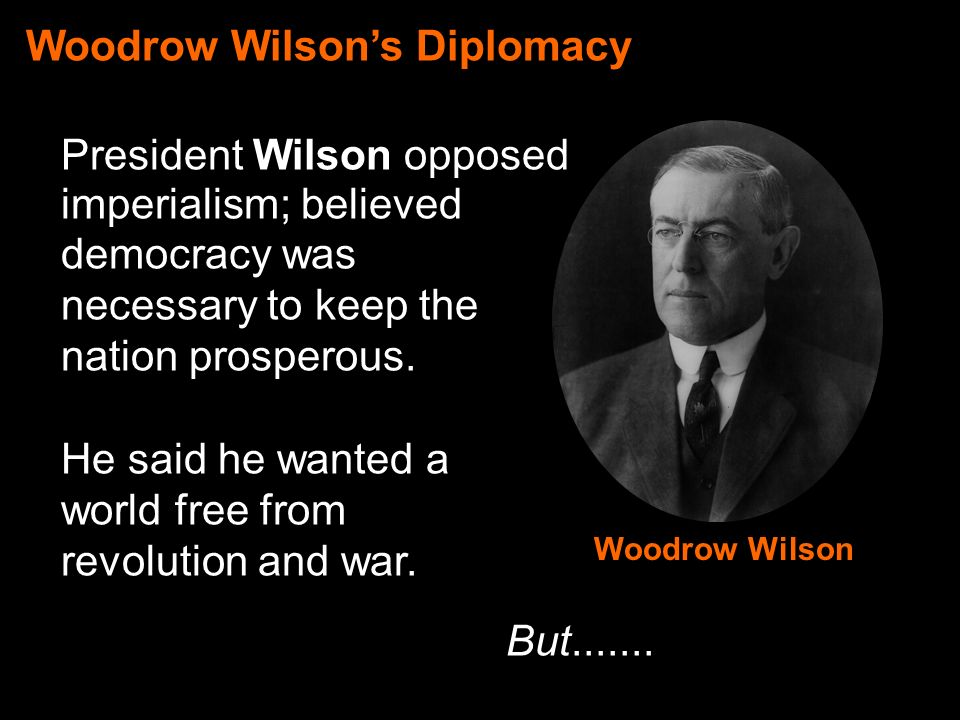 woodrow wilsons war message Get an answer for 'according to woodrow wilson's war message to congress, how did the imperial government of germany pose a threat for world peace and democracy' and find homework help for other history questions at enotes.