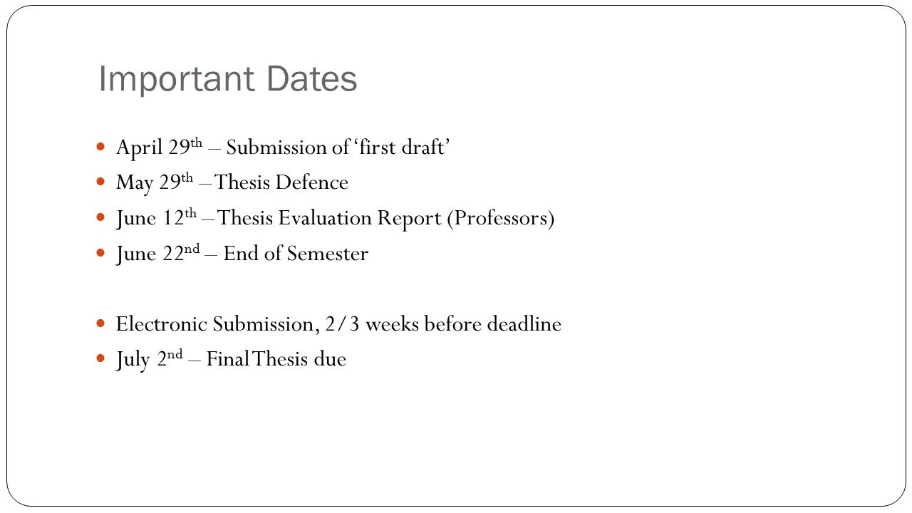 thesis format and submission - ppt download, Presentation templates