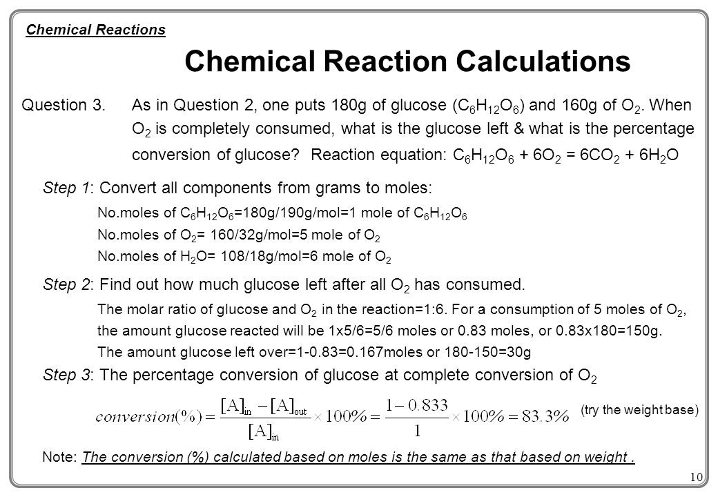 how to find moles used chemical kinetics