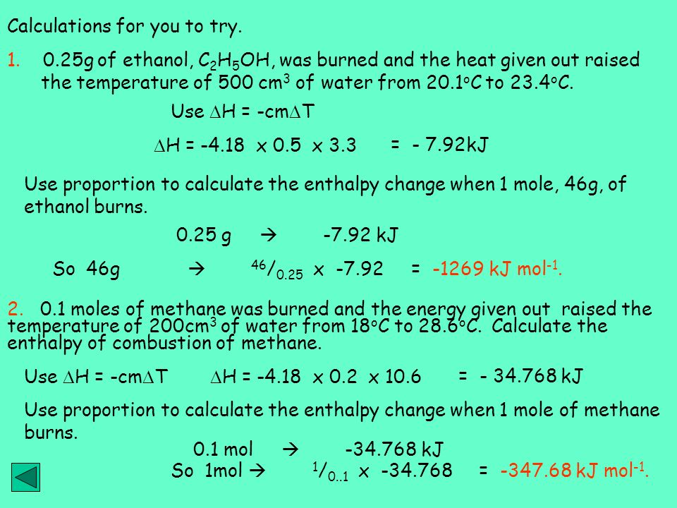 how to calculate molar enthalpy change limiting