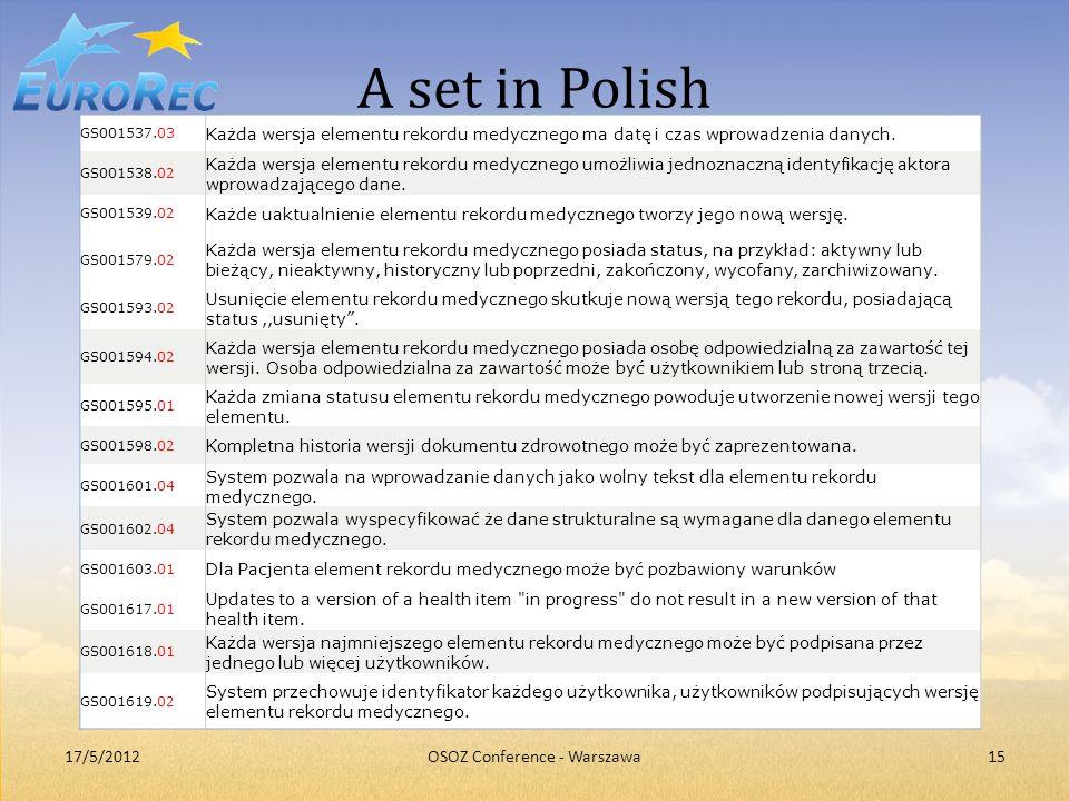 OSOZ Conference - Warszawa