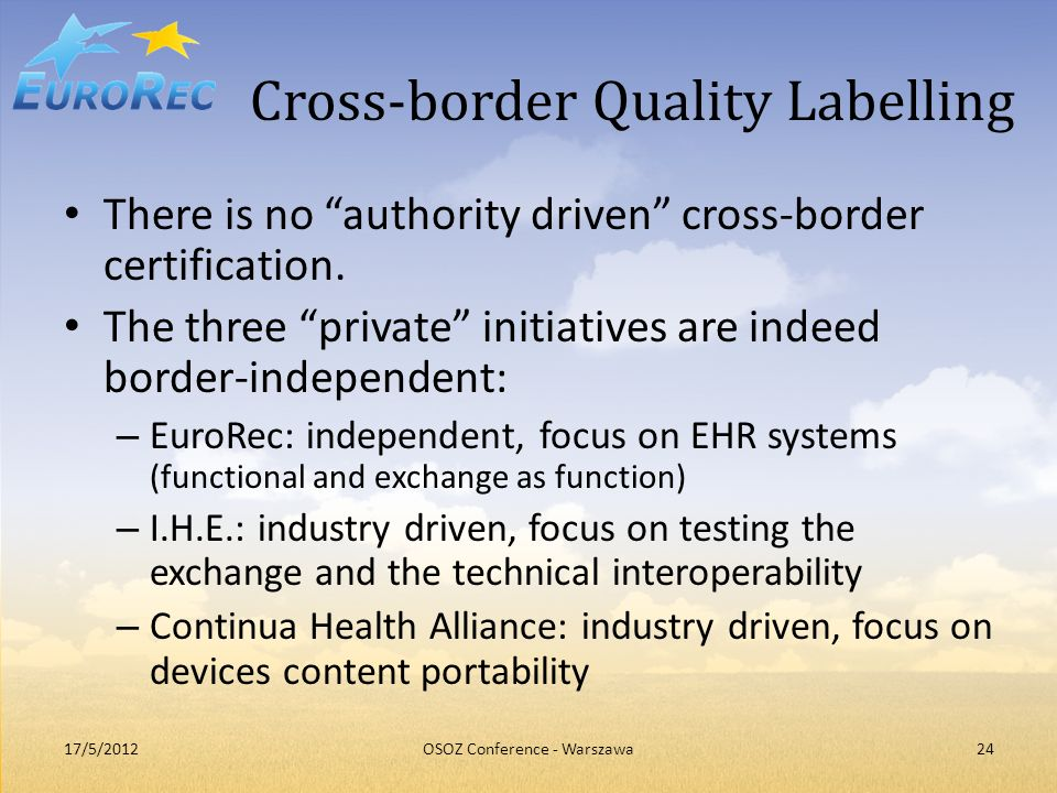 Cross-border Quality Labelling
