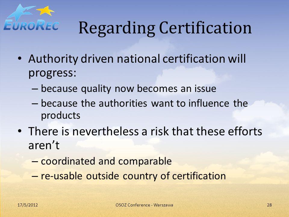 Regarding Certification