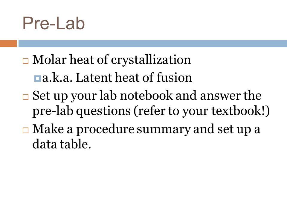 how to make a pre lab