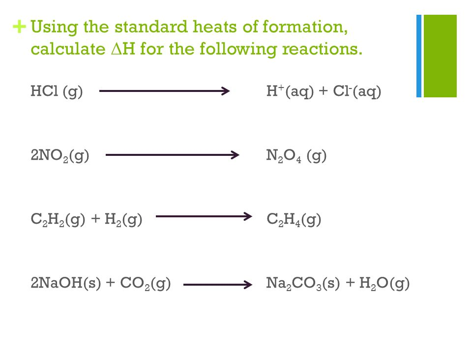 how to calculate enthalpy change of formation