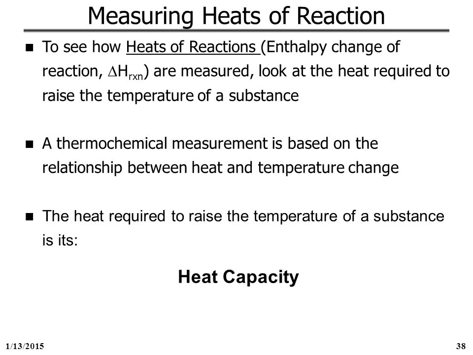 what is the relationship between enthalpy change and heat