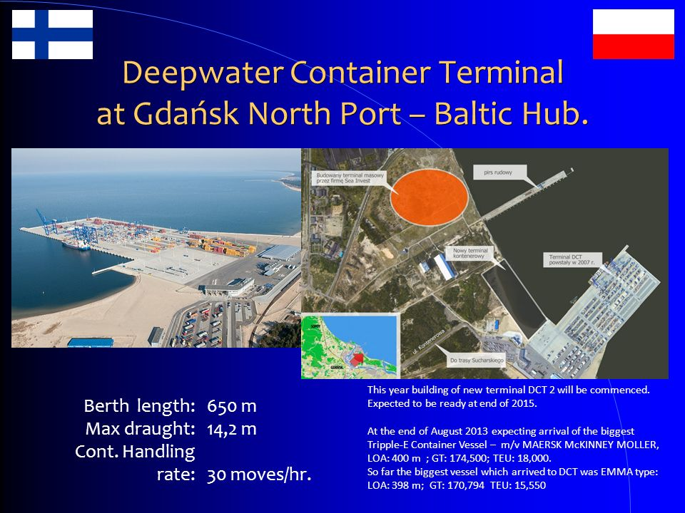 Deepwater Container Terminal at Gdańsk North Port – Baltic Hub.