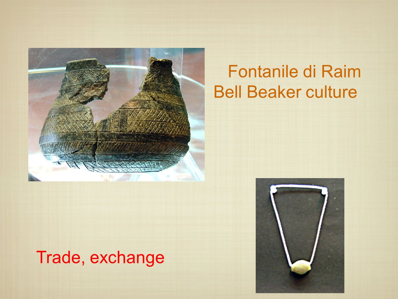 Fontanile di Raim Bell Beaker culture Trade, exchange