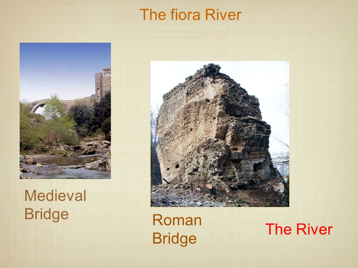 The fiora River Medieval Bridge Roman Bridge The River