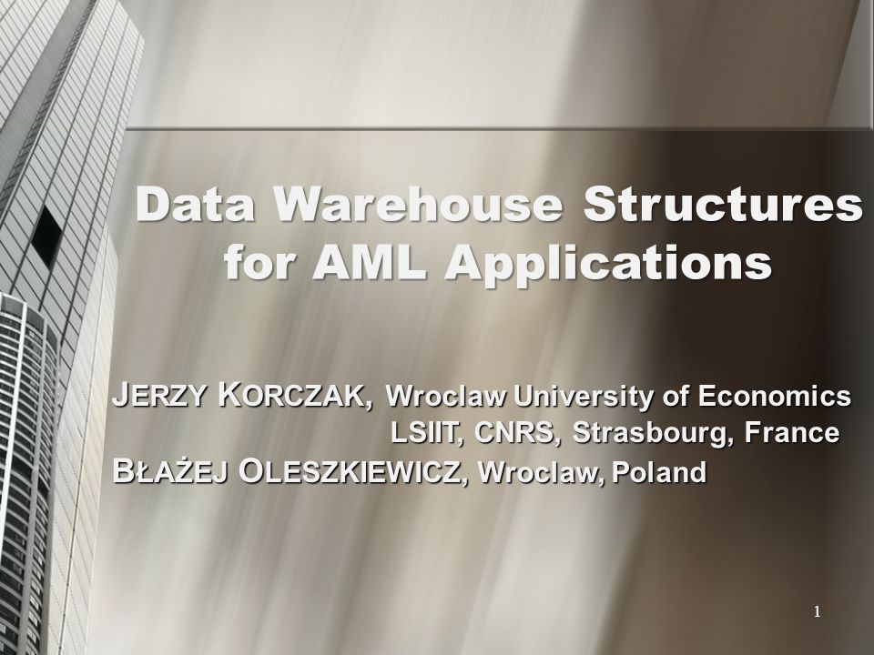Data Warehouse Structures
