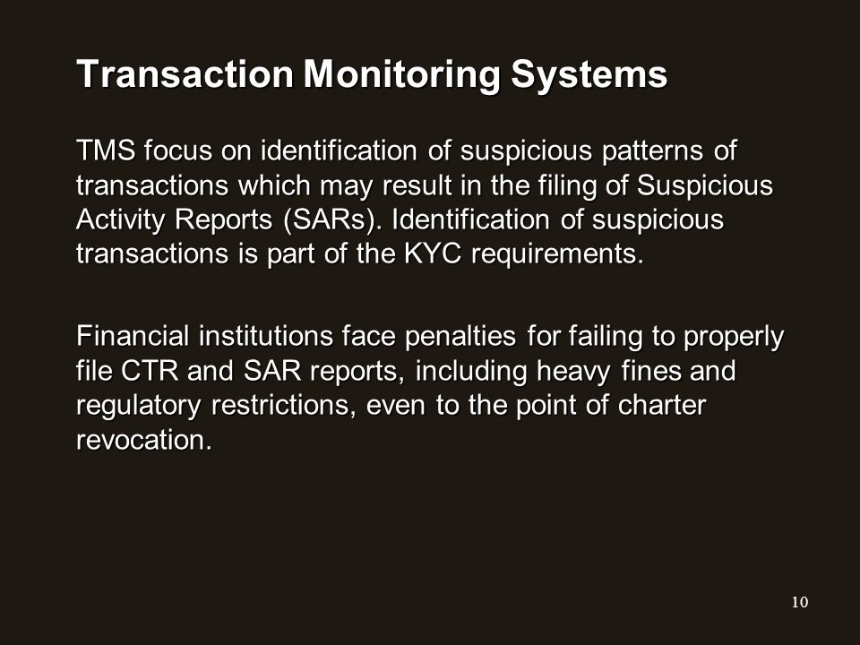 Transaction Monitoring Systems