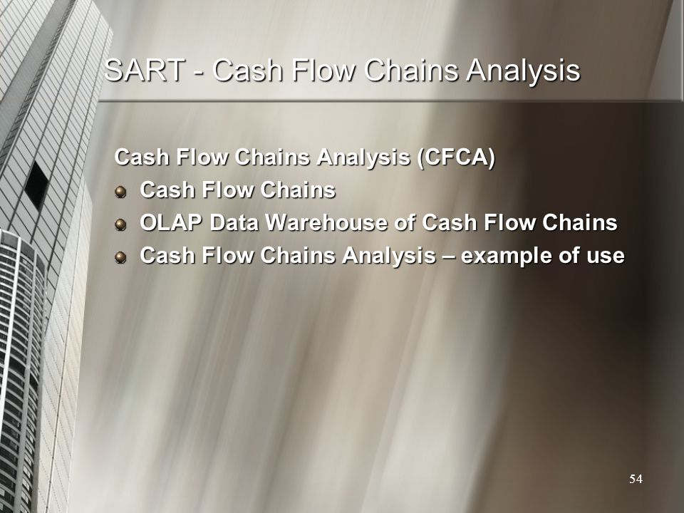 SART - Cash Flow Chains Analysis