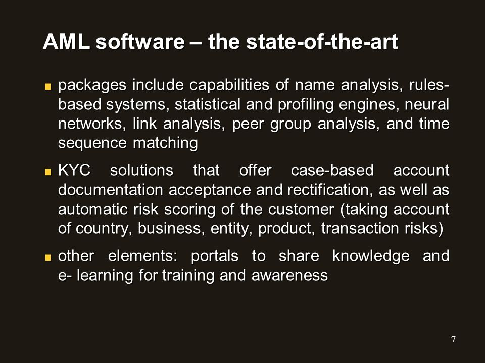 AML software – the state-of-the-art