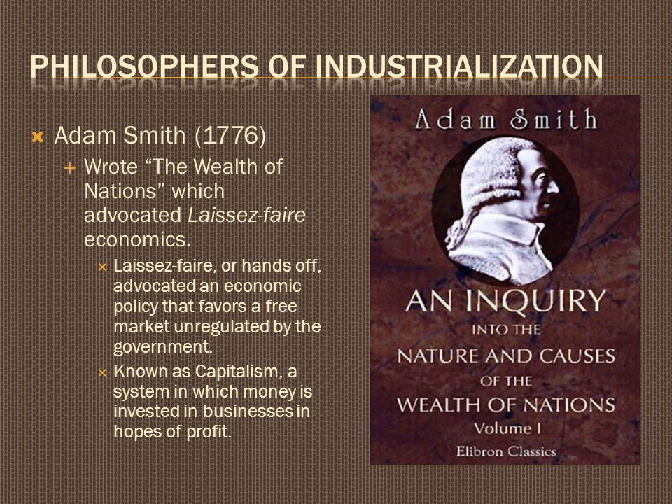 adam smith capitalism essays View this essay on adam smith's views on the therefore the division of labor and human nature combine to produce a natural growth of the market and the more.