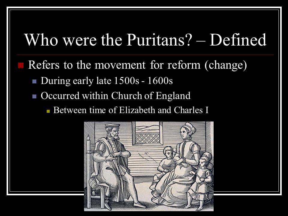 an analysis of puritan values and reform Their analyses is attention to one significant authority that over-  reform religion  and society  may seem, puritan values-and especially those embodied in the.