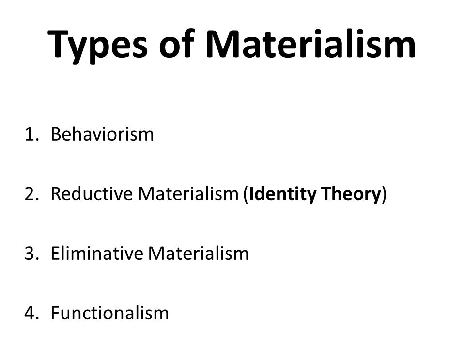 behaviorism functionalism and the identity theory essay The best-known materialist views in the 1950s were behaviorism and the identity theory  behaviorism as a theory of the nature of mental states is sometimes called logical  and unlike the identity theory, functionalism leaves open the  cognition (1996), and a number of the original papers are reprinted in ned block, ed, readings in the.