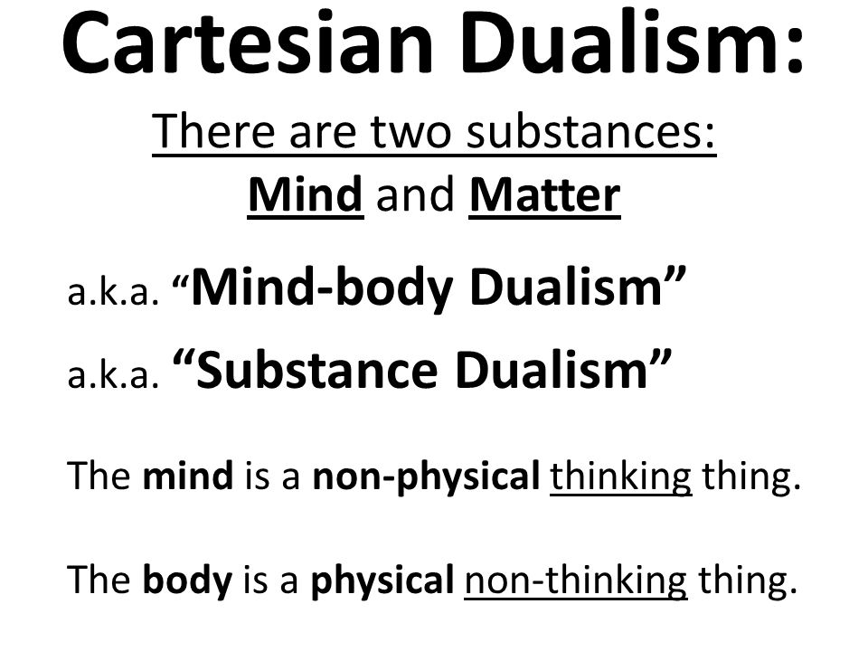 Mind–body dualism