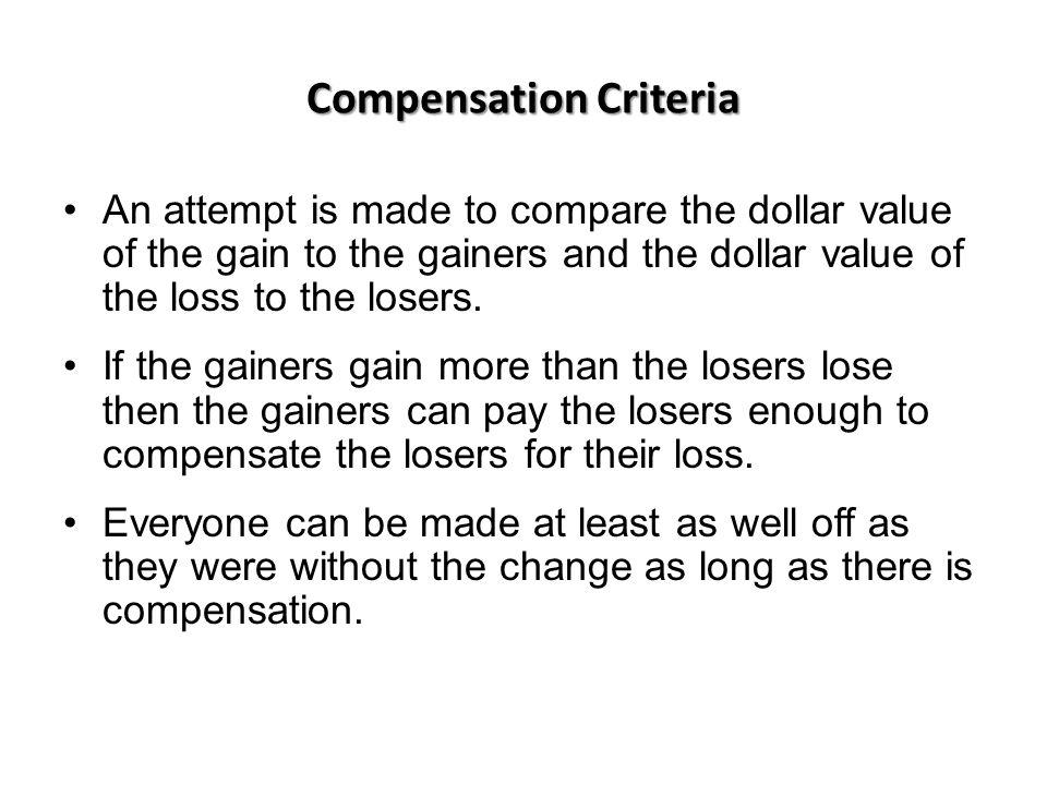Compensation Criteria